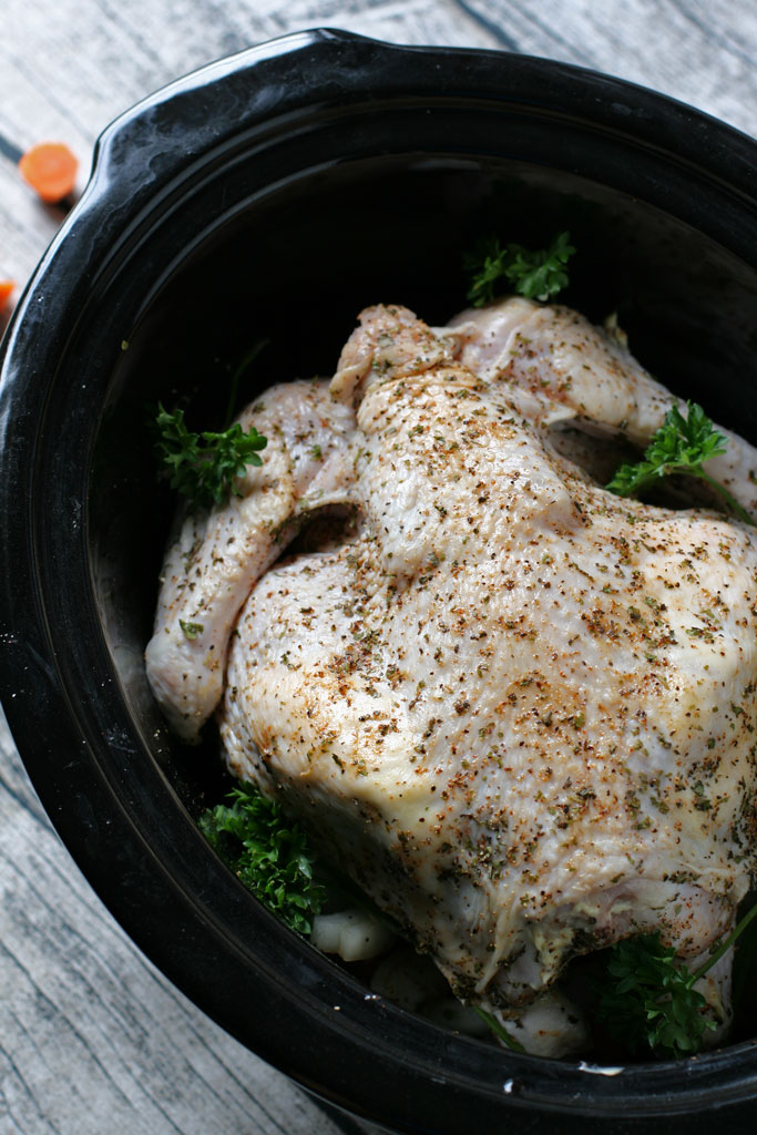 An easy slow cooker chicken recipe plus an awesome virtual farmer's market resource!