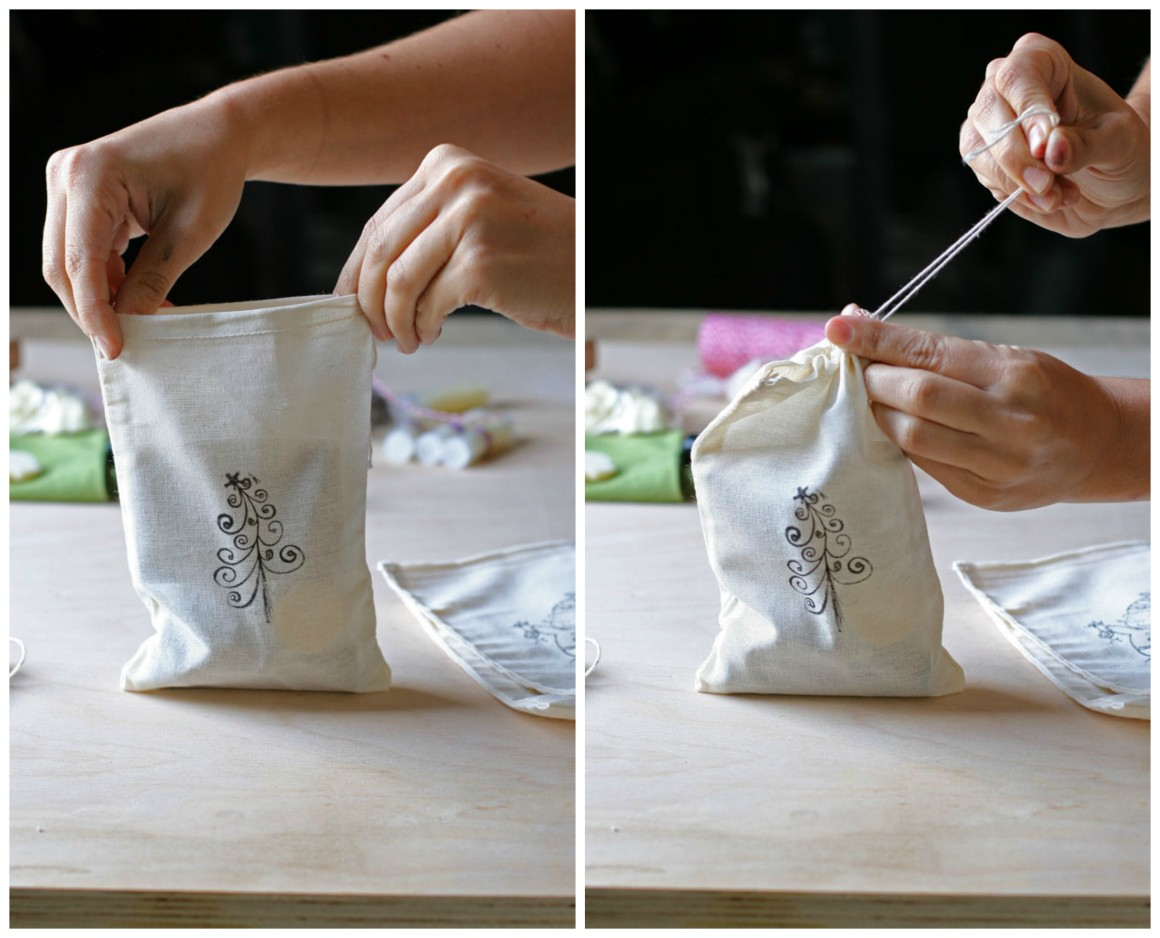 Conflicted about whether to give homemade or handmade store bought gifts? Combine both and create the perfect stocking stuffer gift bag! Learn how here.