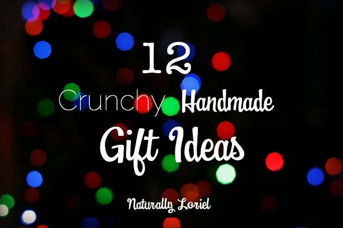 """Wondering what makes these gifts """"crunchy?"""" Think handmade gifts like kombucha, peppermint hand soap, vanilla coconut sugar, seasoning ornaments, and more!"""