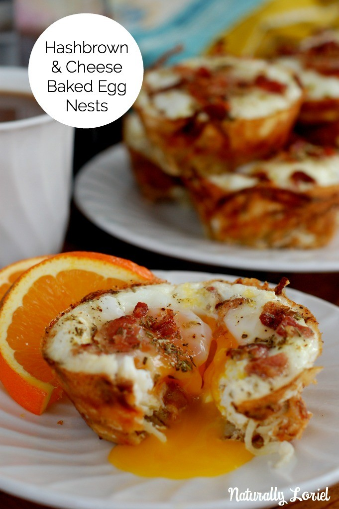 Crispy hashbrowns, salty cheese, and nutrient dense eggs baked up in muffin tins for the perfect quick and easy breakfast! Double them up and freeze for easy future meals!