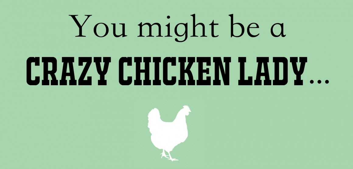 """Are you wondering if you've crossed over to that """"crazy chicken lady"""" status? Here are 28 sure tell signs you are indeed """"that"""" person... which is honestly not a bad thing at all!"""